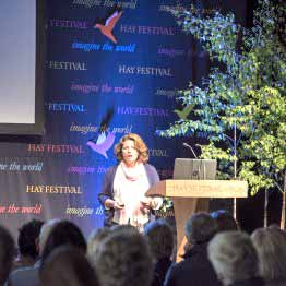 Caroline Ingraham Speaking At The Hay Book Festival In 2016